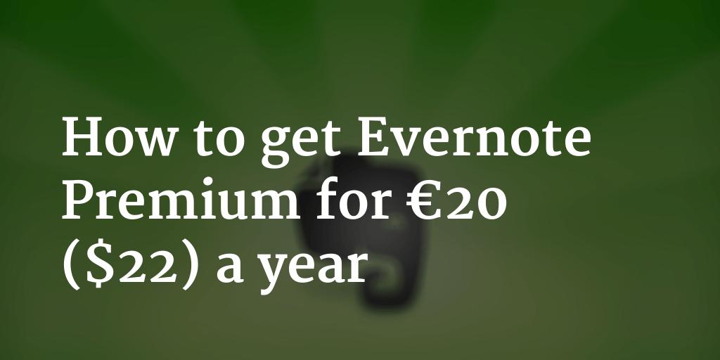 evernote free premium activation code